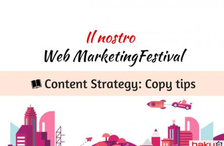 Content Strategy: il Copy al centro dell'attenzione – #wmf18